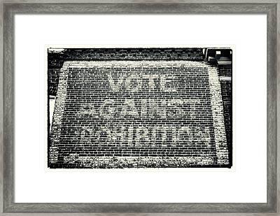 Vote Against Prohibition Iv Framed Print