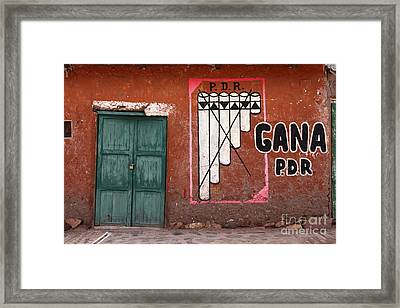 Vote For The Panpipes Framed Print by James Brunker