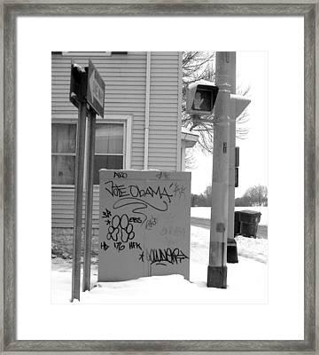 Vote Obama Framed Print by Rhonda Barrett