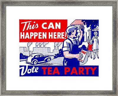 Vote Tea Party Framed Print by Historic Image
