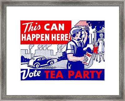 Vote Tea Party Framed Print