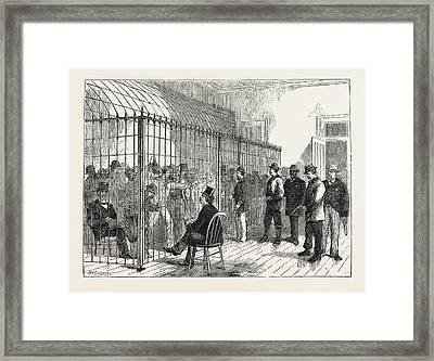 Voters On Election-day In The New Post Office, New York Framed Print by American School