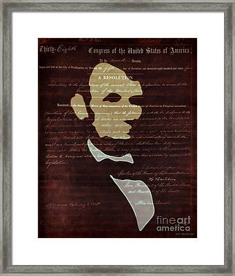 Votes For Freedom Framed Print by Pedro L Gili