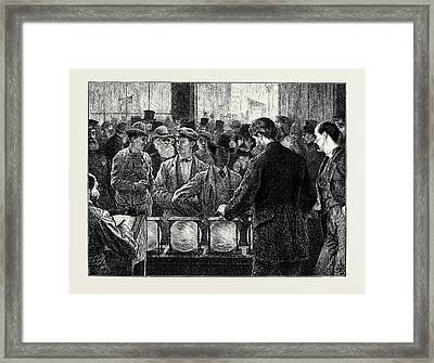 Voting By Ballot In The United States Framed Print