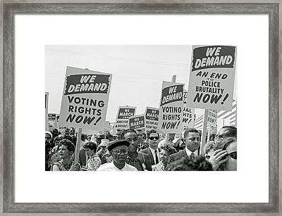 Voting Rights March In Washington Dc 1963 Framed Print
