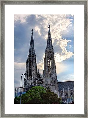 Votive Church Towers Framed Print by Viacheslav Savitskiy