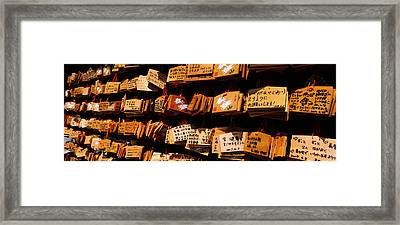 Votive Tablets In A Temple, Tsurugaoka Framed Print