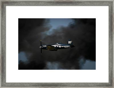 Vought F4u Corsair Framed Print by Adam Romanowicz