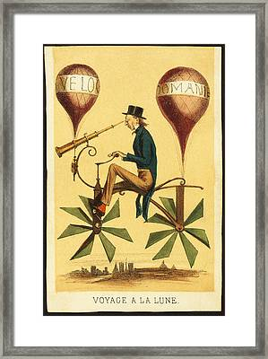 Voyage A La Lune Framed Print by Bill Cannon