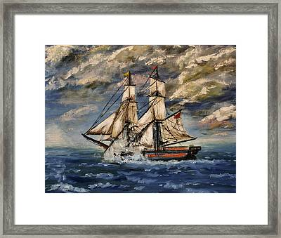 Voyage Of The Cloud Chaser Framed Print by Isabella F Abbie Shores FRSA