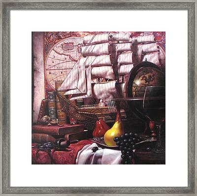 Voyage Round The World Framed Print by Takayuki Harada