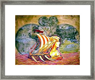 Voyage To Valhalla. Framed Print by Larry Lamb