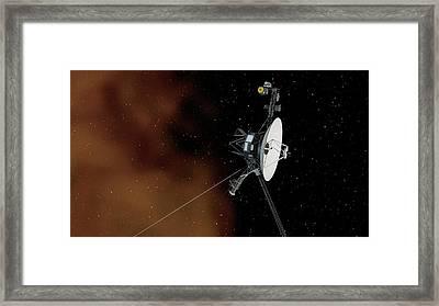 Voyager 1 Framed Print by Nasa/jpl-caltech