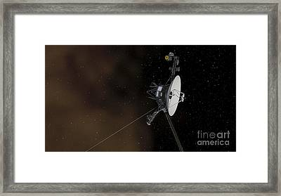 Voyager 1 Spacecraft Entering Framed Print by Stocktrek Images