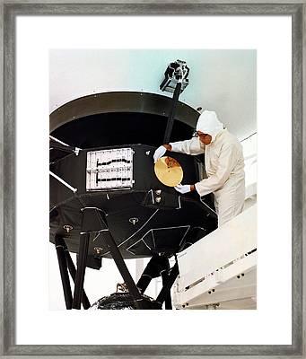 Voyager Disc Installation Framed Print