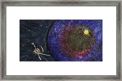 Voyager Leaving The Solar System Framed Print by Nicolle R. Fuller