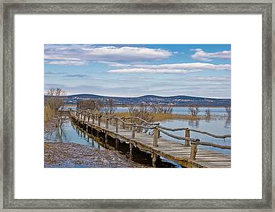 Vransko Lake Nature Park Bird Observatory Framed Print