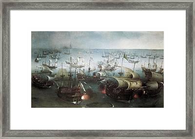 Vroom, Hendrick-cornelisz 1566-1640 Framed Print