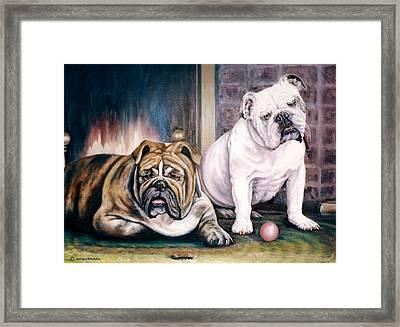 V's Bulldogs Framed Print by Melodye Whitaker