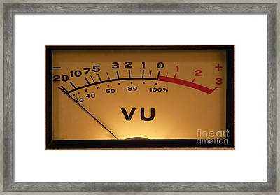 Framed Print featuring the photograph Vu Meter Illuminated by Gunter Nezhoda