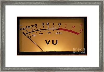 Vu Meter Illuminated Framed Print by Gunter Nezhoda