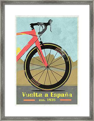 Vuelta A Espana Bike Framed Print by Andy Scullion