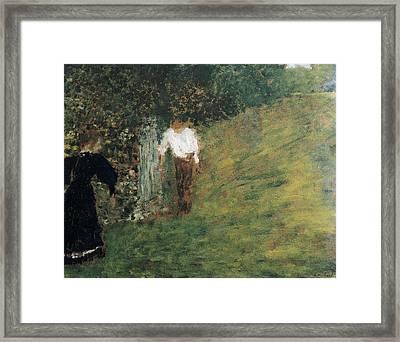 Vuillard, Edouard 1868-1940. Man Framed Print