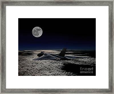 Vulcan At Night Framed Print by Paul Heasman