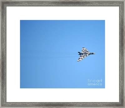 Vulcan In Flight Framed Print by Paul Cowan