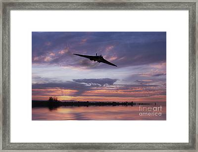Vulcan Over The Water  Framed Print