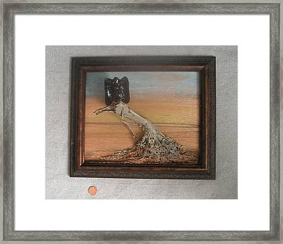 Vulture On Stump Framed Print