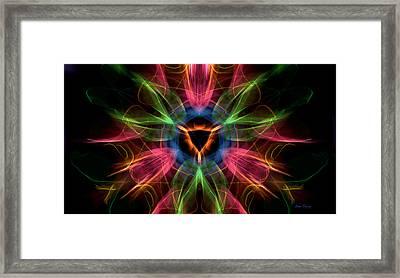 Vulva Galaxy Framed Print by Dan Terry