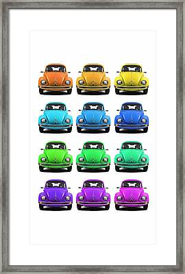 Vw Beetle Phone Case Framed Print