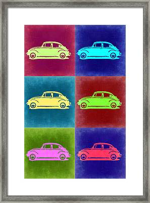 Vw Beetle Pop Art 2 Framed Print