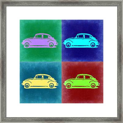 Vw Beetle Pop Art 3 Framed Print