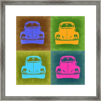 Vw Beetle Pop Art 6 Framed Print by Naxart Studio
