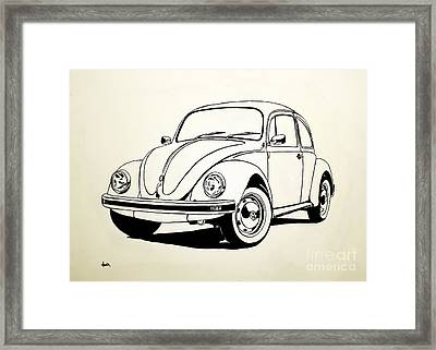 Vw Bug Framed Print by Aaron Acker