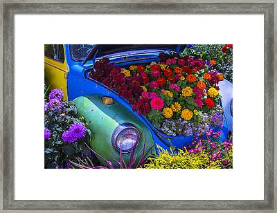 Vw Bug Garden Framed Print
