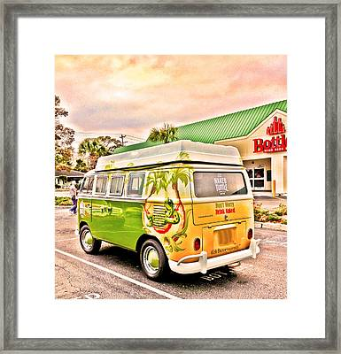 Vw Bus Stop Framed Print