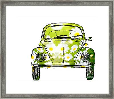 Vw Daisy Bug Framed Print