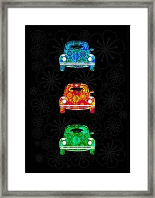 Vw Flower Power Framed Print