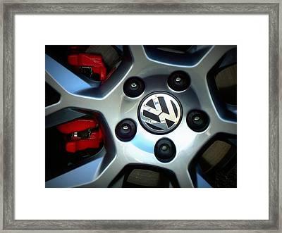 Vw Gti Wheel Framed Print by Joseph Skompski