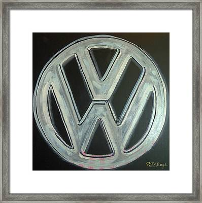 Vw Logo Chrome Framed Print