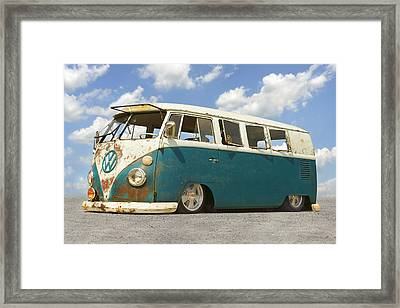 Vw Lowrider Bus Framed Print by Mike McGlothlen