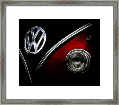 Vw Micro Bus Logo Framed Print by Steve McKinzie