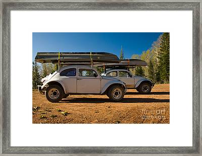 Vw Mountain Bugs Framed Print