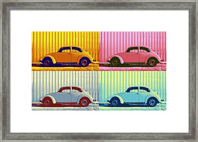 Vw Pop Autumn Framed Print by Laura Fasulo