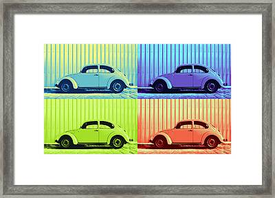Vw Pop Summer Framed Print by Laura Fasulo