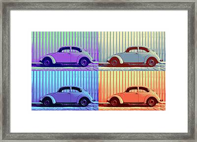 Vw Pop Winter Framed Print by Laura Fasulo
