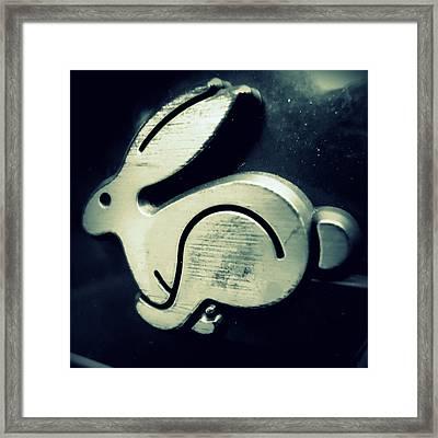 Vw Rabbit Emblem Framed Print